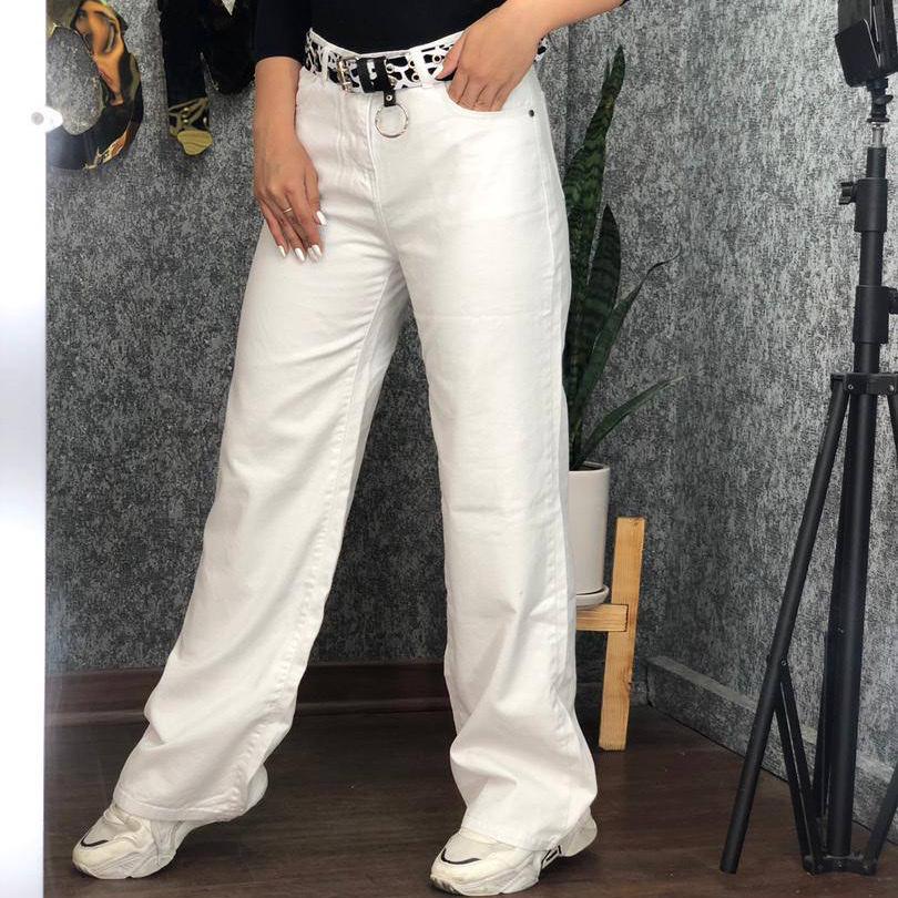 شلوار جین سفید بگ کد 1994