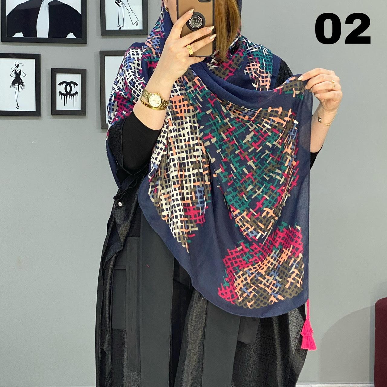 روسری بلند منگوله دار کد 1705